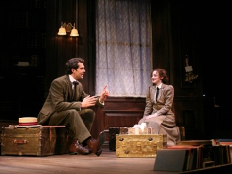 Robert Adelman Hancock and Megan McGinnis in a scene from Daddy Long Legs